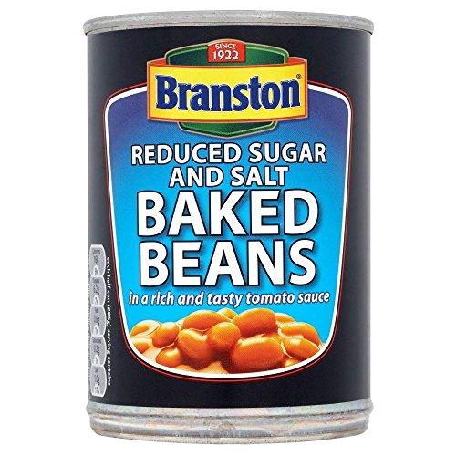 Branston Baked Beans in Tomato Sauce, Reduced Sugar & Salt (410g) - Pack of 6