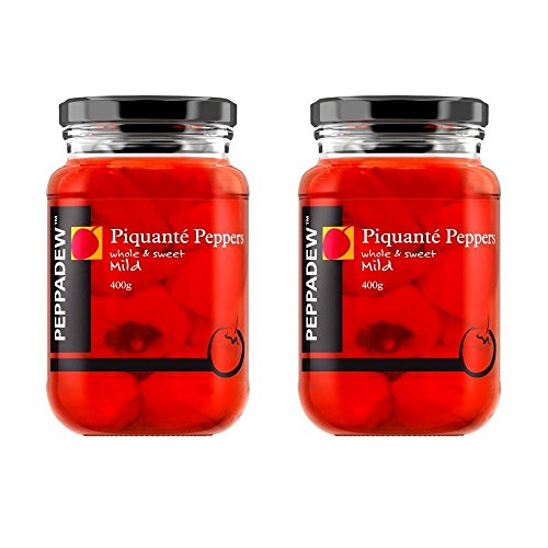 (Peppadew Piquant Mild / Sweet Peppers 400g - Pack of 2)