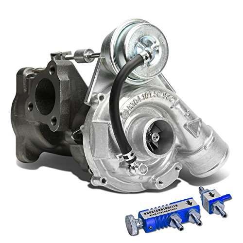 Exhaust Avant Turbo Quattro (For Audi VW K03 EA113 B5 1.8 1.8T Turbocharger+Blue 30 psi Boost Controller - Turbine A/R .87)