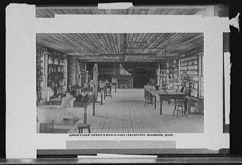 Photo: Upper floor, Thomas A Edison's Menlo Park Laboratory, Dearborn, Michigan, MI, c1930 . Size: - Stores Mi In Dearborn