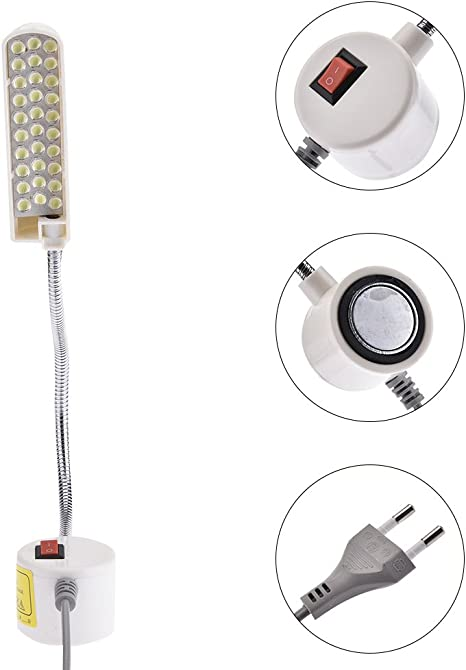 Lámpara de cuello de cisne para máquina de coser, luces de ropa ...