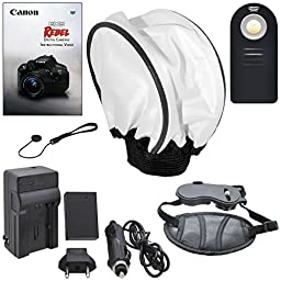 Everything You Need Advanced Video Bundle for Canon T6i, T6s, 750D, 760D (Accessories for 72mm lenses) Includes: 2 Extended Life Replacement Batteries + LED Light + Stabilizer + Microphone & More!
