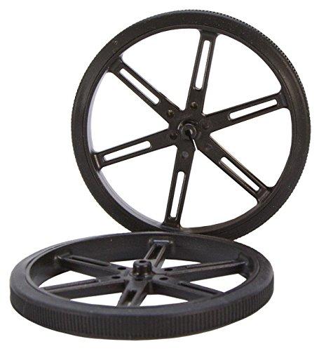 90 x 10mm Black Robot Wheels Pololu