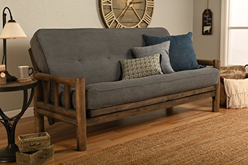 Jerry Sales Up North Futon Lodge Frame and Mattress Full Size Sofa Bed (Marmont Thunder)