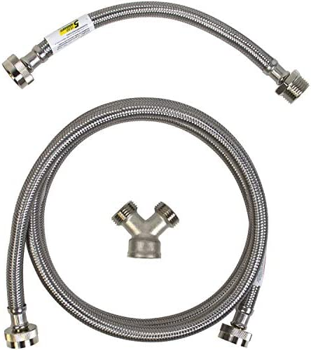 Certified Appliance Accessories Steam Dryer Installation Kit [Steam Dryer Hose, Y Connector and Inlet Adapter Hose], 6 Feet