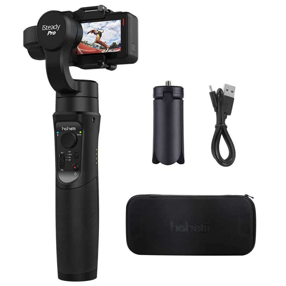 Hohem iSteady Pro Estabilizador de cardá n Controles de aplicació n para panoramas automá ticos,Time-Lapse y Seguimiento para Gopro Hero 6/5/4/3, Yi CAM 4K, AEE, SJCAM Sports Cams TG