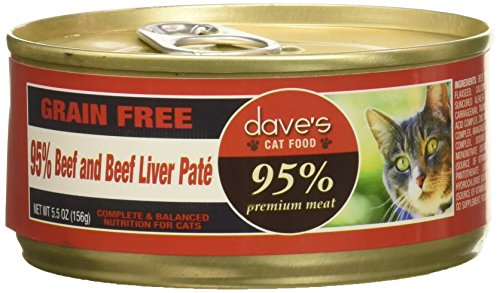 - Dave'S 95% Beef & Beef Liver Pate Formula For Cats, 5.5 Oz Can (Case Of 24 )