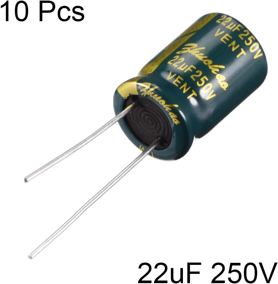 5-PACK 10x16mm Electrolytic Capacitors with Operating Temperature Range from 40/°C to 105/°C 1000uF 25V