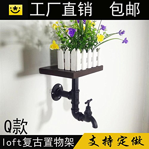 Dayanand Sink Faucet Antique Copper Basin Mixer Tap The wall pipe racks antique flower stands in the living room décor is simple and solid wood furniture and art book shelves faucets ()