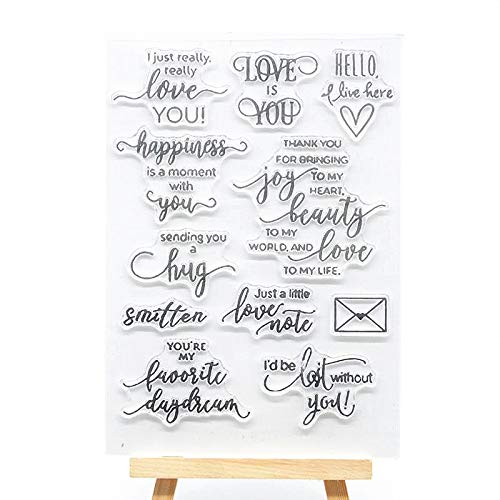Welcome to Joyful Home 1pc I Love You Mail Sentiment Clear Stamp for Card Making Decoration and Scrapbooking