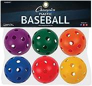 Champion Sports Plastic Baseball - One Dozen (12)