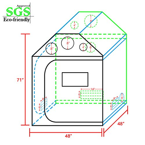 Quictent Sgs Approved Eco Friendly 48 Quot X48 Quot X71 Quot Roof Cube