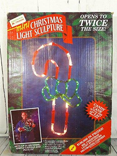 (Mr. Christmas 1994 Mini Christmas Light Sculpture Candy Cane )