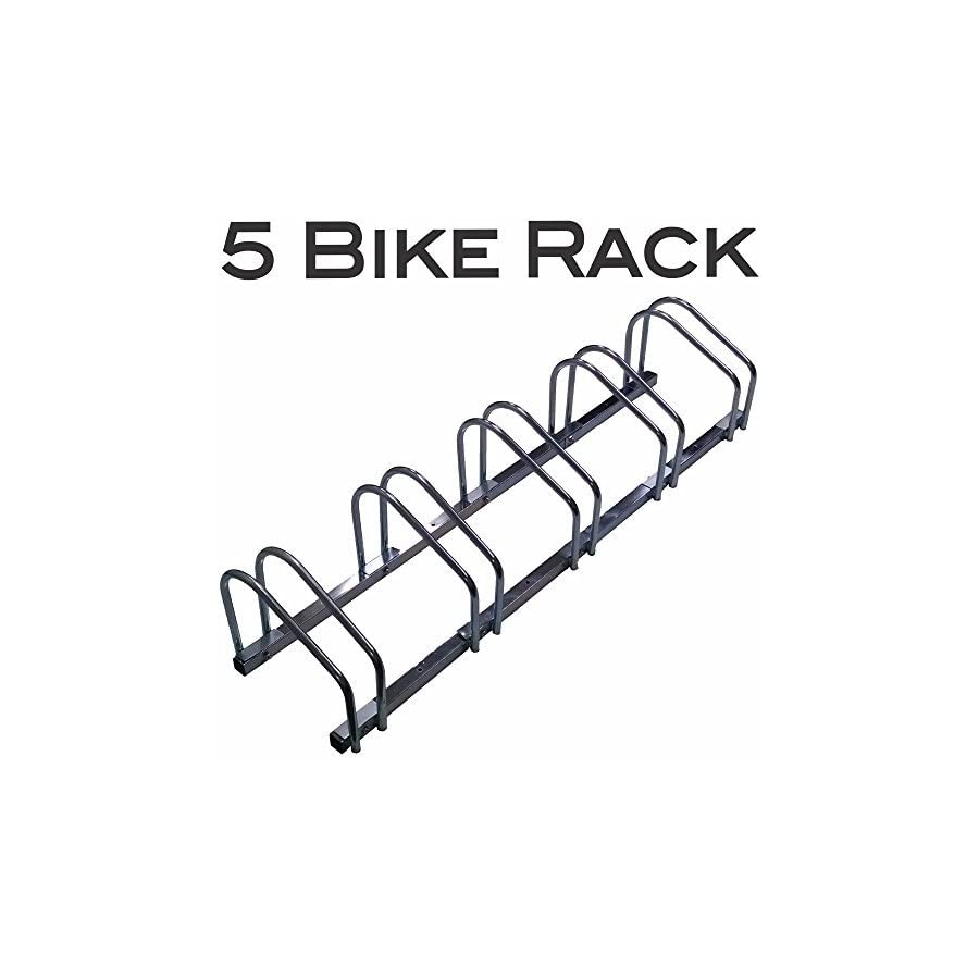 EasyGo Floor Stationary Five Bike Wheel Rack, Indoor – Outdoor Bike Stand