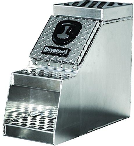 Buyers Products 1705180 Heavy Duty Diamond Tread Aluminum Step Box (24x28x12 Inch)