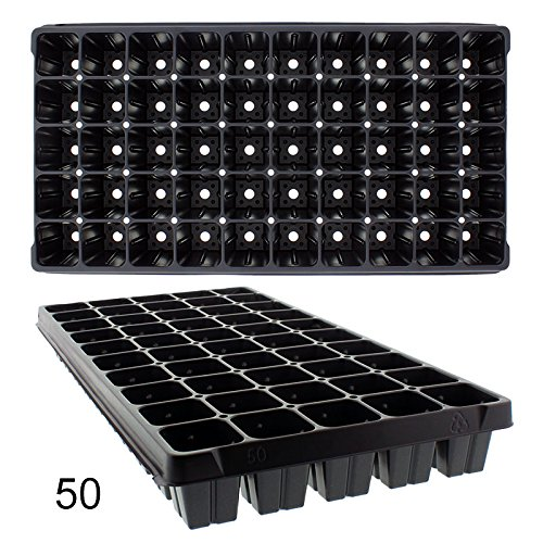 50 Cell Plug Flats, 10 each by TO Plastics