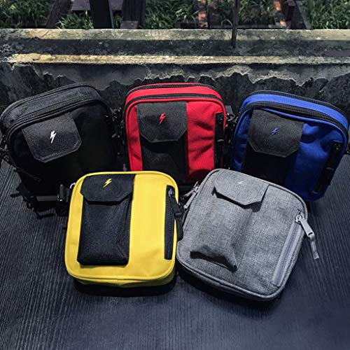 color Square And Canvas Small Size Casual Men Women Bag Messenger Yellow Rxf Black S FZzf8z