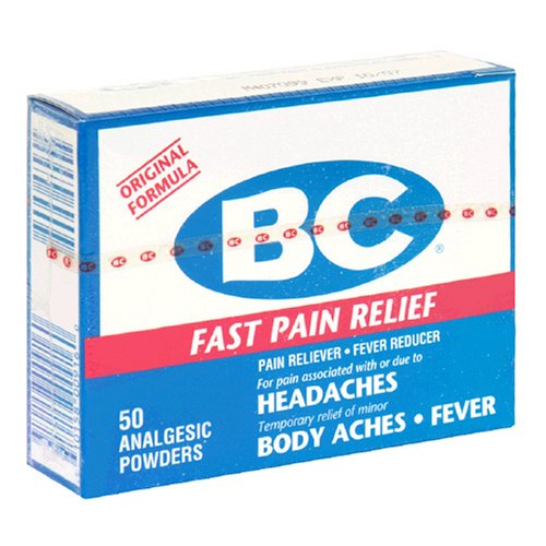 BC Pain Reliever/Fever Reducer Powder, New Formula, 50-Count Packages (Pack of 4)