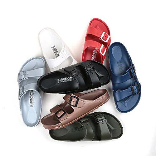 Adjustable Open Sandal Double Rose Womens Slides UB DEVO Lightweight Toe Buckle qZX77z