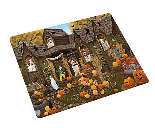 (Doggie of the Day Haunted House Halloween Trick Treat Brittany Spaniels Dog Blanket BLNKT93000 (60x80 Fleece) )