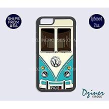 iPhone 6 Plus Case - VW Teal Minibus Retro Cover
