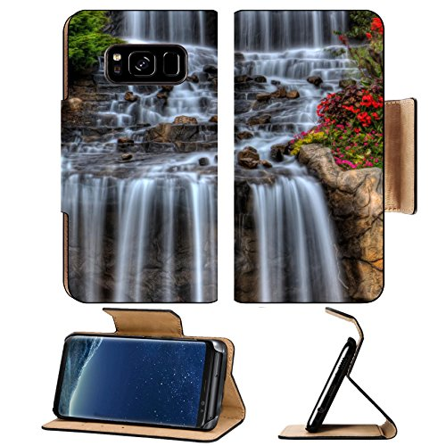 Liili Premium Samsung Galaxy S8 Flip Pu Wallet Case IMAGE ID 32382033 Steams of misty water fall down the hill in High Dynamic Range