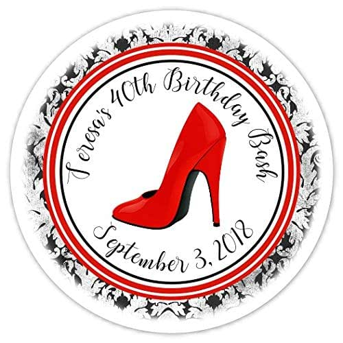 Amazon.com: Stiletto Birthday Labels, 30, 40th Or 50th