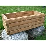 Nouveau bac à fleurs en bois tOP pot de fleurs pour jardin et terrasse montée d2 noix 100 cm