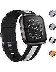 CAVN Armband Compatibel met Fitbit Versa 2 Band Geweven, Stof Armbanden Nylon Sport Polsbandjes met Verstelbare Sluiting Horlogeband voor Fitbit Versa/Versa Lite/Versa 2 Smartwatch