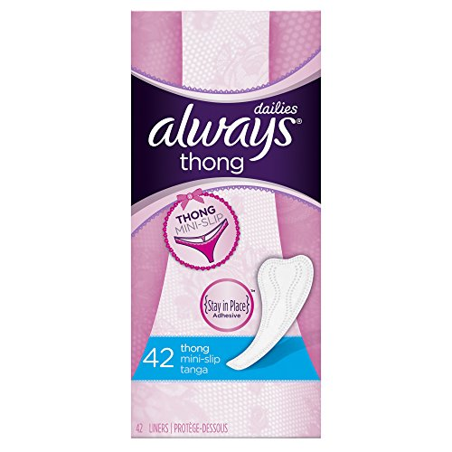 Always Thong Liners 42 Count (Pack of 8)