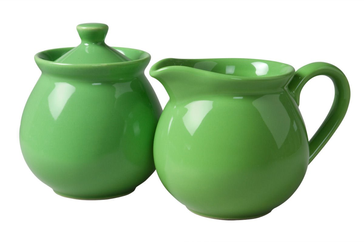 Waechtersbach Fun Factory II Green Apple Sugar/Creamer Set