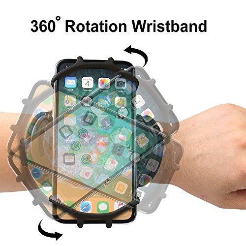 Armband iPhone X/iPhone 8 Plus/ 8/7 Plus/ 6 Plus/ 6, Galaxy S8/ S8 Pl us/ S7 Edge, Note 8 5, Google Pixel, 360° Rotatable Key Holder Phone Sports Armband Phone Holder by iRunme (Image #4)