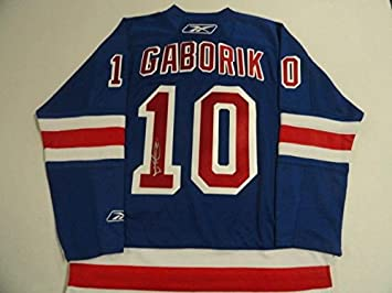 low priced 2ad79 6c325 Signed Marian Gaborik Jersey - Reebok - Autographed NHL ...