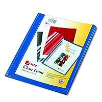 ACCO 26102 Cubiertas transparentes para informe frontal: Cierre de diente, 1/2 Cap., Parte posterior de vinilo azul, 10 /pk