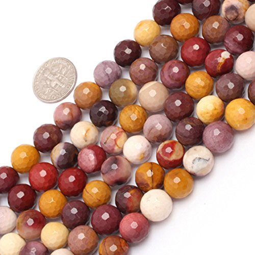 Jasper Multi Strand - 10mm Round Faceted Gemstone Mookaite Jasper Beads Strand 15 Inch Jewelry Making Beads