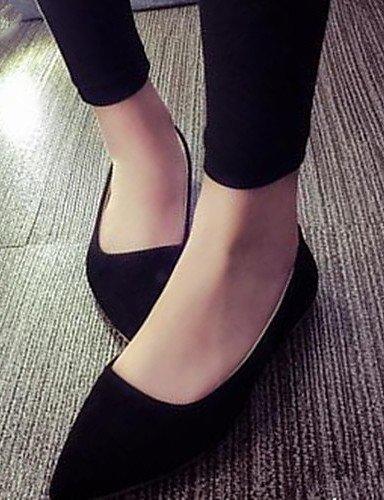 PDX/Damen Schuhe flach Absatz spitz Zehen Wohnungen Casual Schwarz/Pink/Weiß, - white-us6 / eu36 / uk4 / cn36 - Größe: One Size