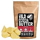 Raw Organic Cocoa Butter, Wild Cacao Butter, 100% Organic, Single-Origin, Unrefined, Non-Deodorized, Food Grade Comes in Wafer or Chunk (8 ounce)
