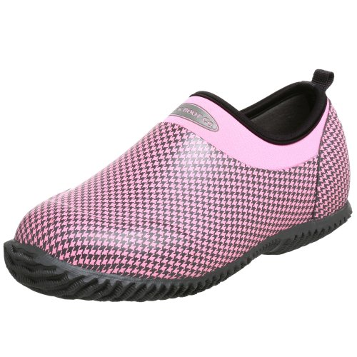 The Original MuckBoots Daily Garden Shoe,Dusty Pink Houndstooth,4 M US Womens