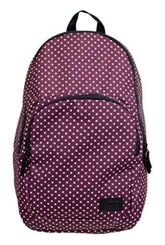 Vans Schooling Backpack (Burgundy-Polka Dots)