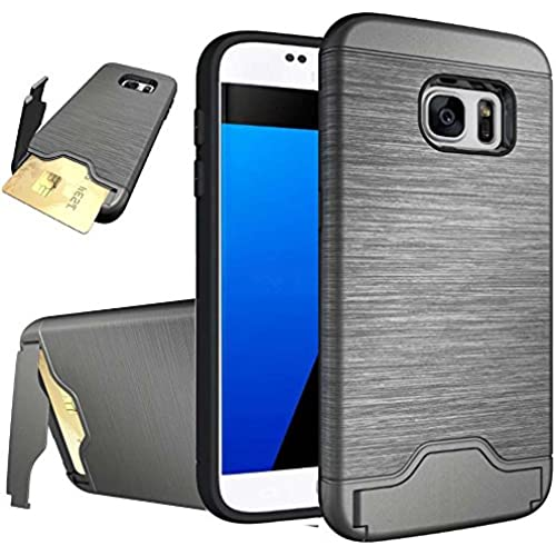 Galaxy S7 Edge Case,S7 Edge Case,Galaxy S7 Edge Cases,Creativecase Hybrid Hard with Card Solt Walelt Back W/Stand Design Case for Samsung Galaxy Sales