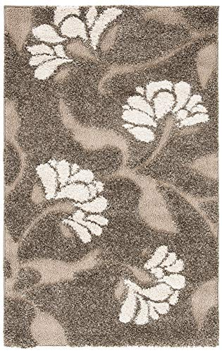 SAFAVIEH Florida Shag Collection SG459 Floral Non-Shedding Living Room Bedroom Dining Room Entryway Plush 1.2-inch Thick…