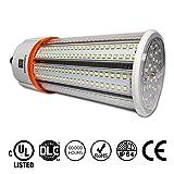 60w corn light - 60W LED Corn Light Bulb, Standard E26 Base, 8115 Lumens, 4000K, IP64 Waterproof Outdoor Indoor Area Lighting, Replacement for Metal Halide HID, CFL, HPS