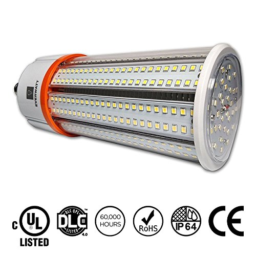 60W LED Corn Light Bulb, Standard E26 Base, 8115 Lumens, 4000K, Replacement for 250W to 400W Equivalent Metal Halide Bulb, HID, CFL, HPS