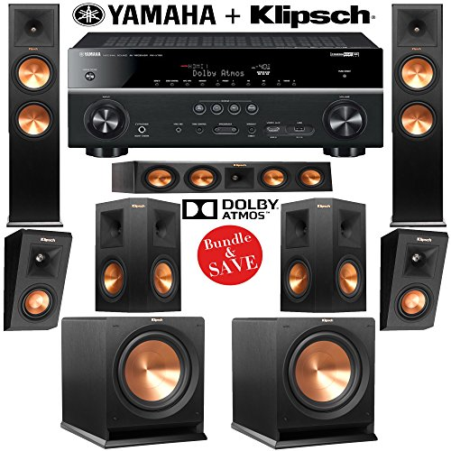 Klipsch rp 280f 5 2 2 reference premiere dolby atmos home for Yamaha 7 2 home theatre system