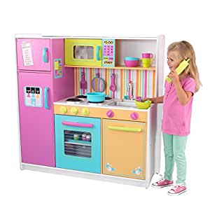 kidkraft deluxe big bright kitchen toys games. Black Bedroom Furniture Sets. Home Design Ideas