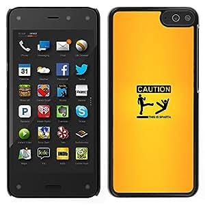Stuss Case / Funda Carcasa protectora - Caution Sign Yellow Quote Funny Sparta - Amazon Fire Phone