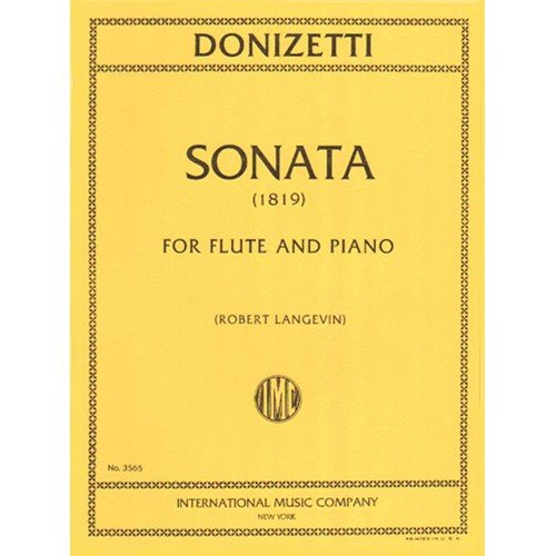 Sonata (1819) - Flute (or Violin) and Piano - edited by Robert Langevin ()
