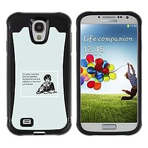 """Pulsar iFace Series Tpu silicona Carcasa Funda Case para Samsung Galaxy S4 IV I9500 , Adicción Cita divertida de la raya de la mujer Drogas"""""""