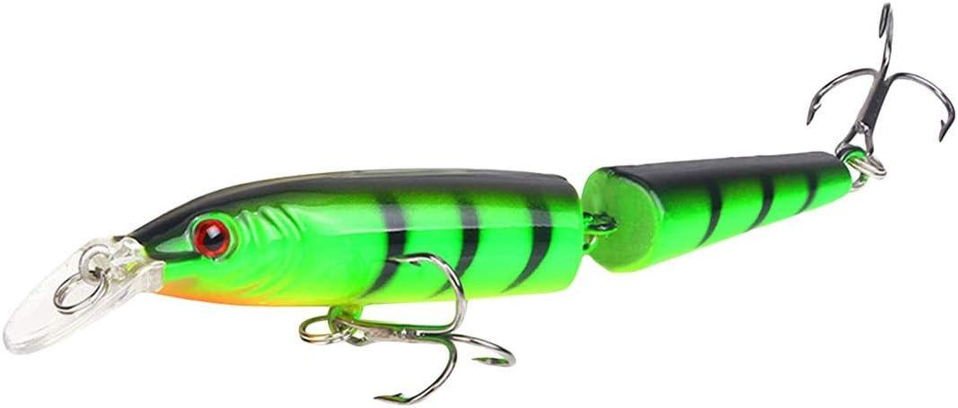 5pcs 10.5cm Multi-jointed Minnow Fishing Lures Bait Swimbait CrankBait Tackle UK