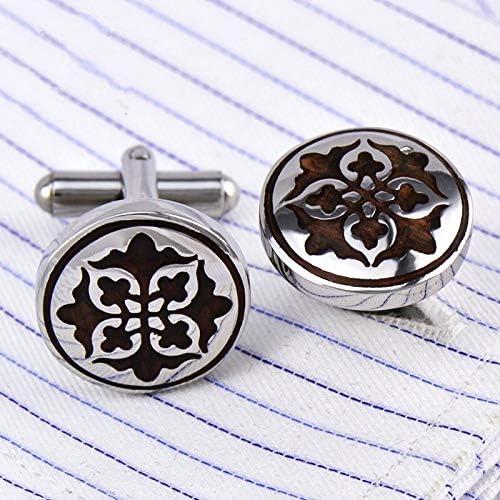 Vesna Jewelry shirt cufflinks for mens Gift Fashion Luxury Wedding Redwood Cuff link Roman totem Button